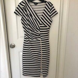 Christian Siriano zip up striped dress size L